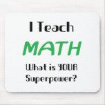 Ensine a matemática mousepad