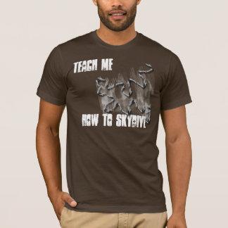 ensine-me como à camisa do mergulho do céu