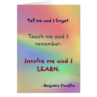 Ensine-me o cartão das citações de Franklin