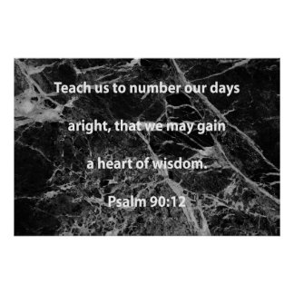 Ensine-nos numerar acertadamente nossos dias impressão