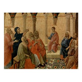 Ensino novo de Jesus no templo Cartão Postal