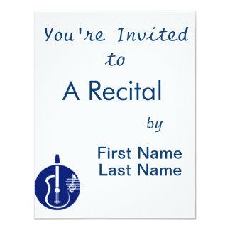 entalhe abstrato da guitarra com notas blue.png convite personalizado