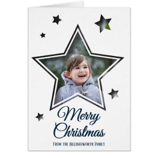 Entalhe da estrela - Feliz Natal - cartão