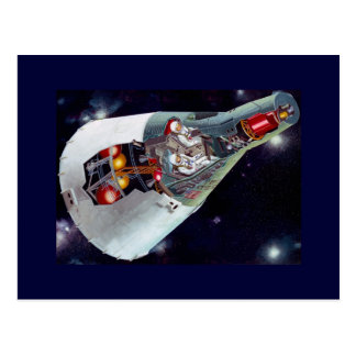 Entalhe da nave espacial dos Gêmeos Cartão Postal