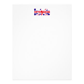 Entalhe Isabelle de Union Jack Papéis De Carta Personalizados