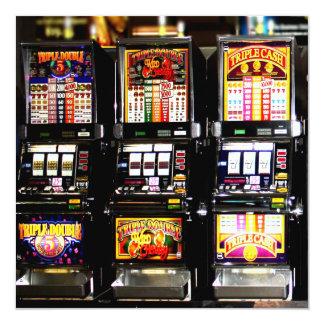 Entalhes de Las Vegas - máquinas ideais Convites Personalizado