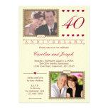 Então e agora 40th convite do aniversário de casam