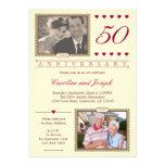 Então e agora 50th convite do aniversário de casam