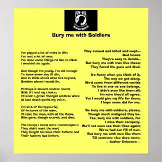 Enterre-me com soldados - honre nossos veteranos posters