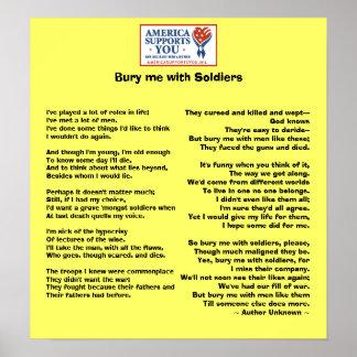 Enterre-me com soldados - honre nossos veteranos posteres
