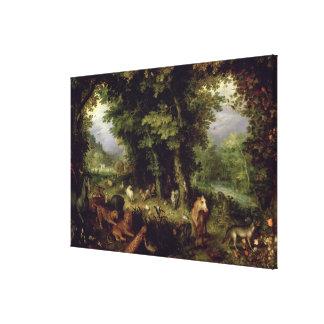 Enterre ou o paraíso terrestre, 1607-08 (óleo na b impressão em tela