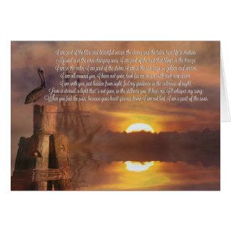 Enterro no cartão espiritual do poema da simpatia