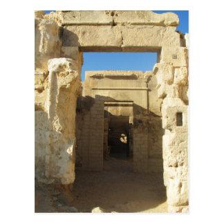 Entrada a Oracle do Amon - oásis de Siwa Cartão Postal