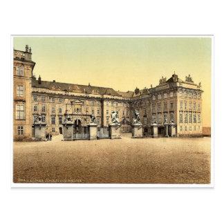 Entrada ao castelo, Praga, Boémia, Austro-Hungar Cartão Postal