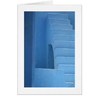 Entrada azul cartão comemorativo