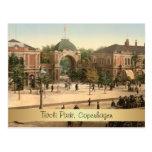Entrada customizável Copenhaga do parque de Tivoli Cartão Postal