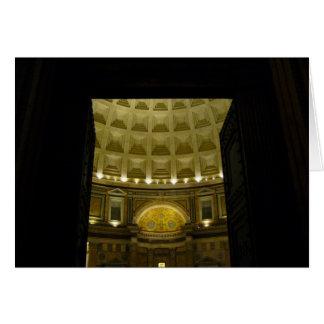 entrada do panteão cartão comemorativo