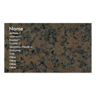 Entrada rocha sólida de Corel Cartão De Visita