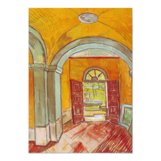 Entrada salão do hospital de St Paul por Van Gogh Convite 12.7 X 17.78cm