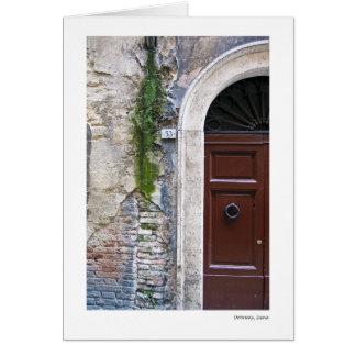 Entrada, Siena Cartão Comemorativo