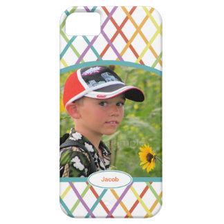 Entrecruzamento colorido bonito foto personalizada capas para iPhone 5