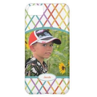 Entrecruzamento colorido bonito foto personalizada capa para iPhone 5C