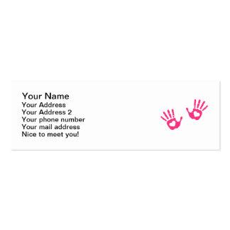 Entrega corações cartões de visita