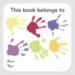 Entrega este livro pertence a, etiqueta do Bookpla Adesivo