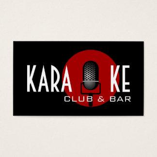 Entretenimento do desempenho do clube e do bar do cartão de visitas