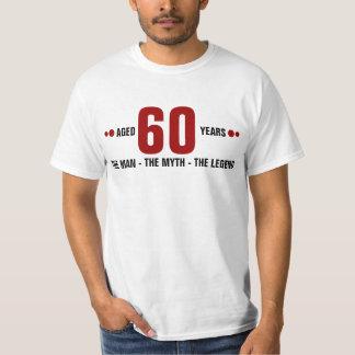 Envelhecido 60 anos o homem, o mito, a legenda t-shirt
