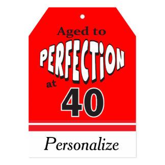 Envelhecido à perfeição em 40 convite 12.7 x 17.78cm