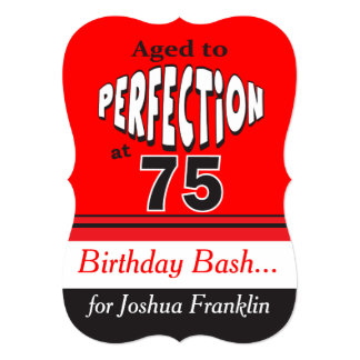 Envelhecido à perfeição em 75 convite 12.7 x 17.78cm