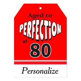 Envelhecido à perfeição no aniversário do 80 de convite 12.7 x 17.78cm