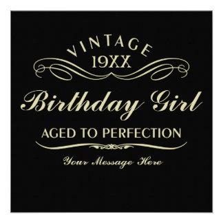 Envelhecido ao aniversário engraçado da perfeição