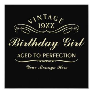 Envelhecido ao aniversário engraçado da perfeição convite personalizado