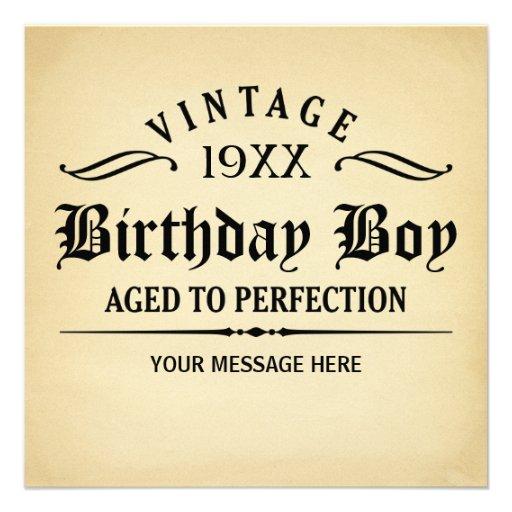 Envelhecido ao aniversário engraçado da perfeição convites personalizados