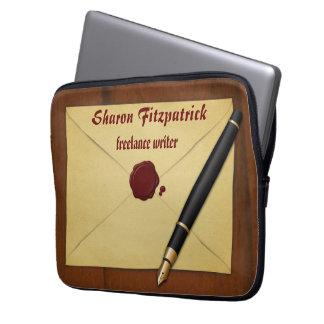 Envelope de papel envelhecido vintage a bolsa de capa para laptop