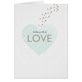 Enviando lotes do amor cartão de nota