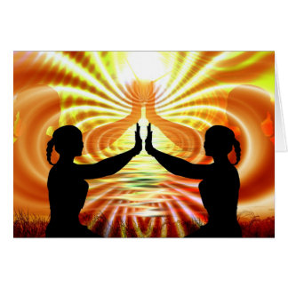 Enviando o amor & ilumine seu cartão da meditação