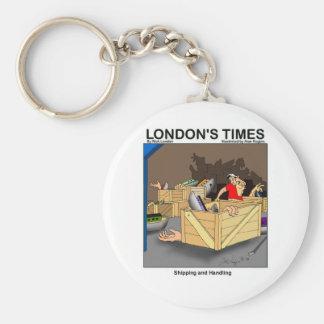Enviando & segurando presentes & coleções engraçad chaveiro
