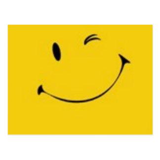Envie um sorriso - cartão do smiley face