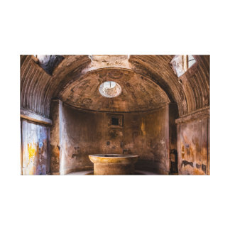 Envoltório das canvas - banhos romanos - Pompeii
