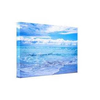 Envoltório das canvas das ondas e das nuvens da