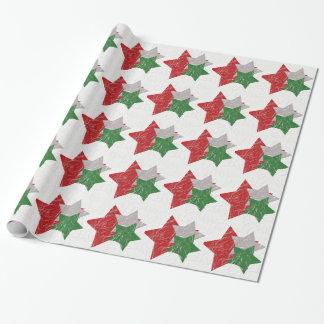 Envoltório das estrelas do Natal Papel De Presente