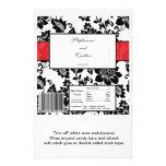 Envoltório de doces floral preto/vermelho do casam panfleto coloridos