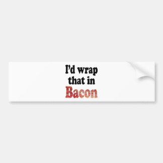 Envoltório do bacon adesivo