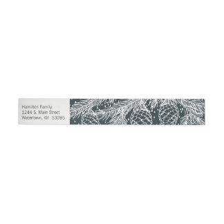 Envoltório esboçado floresta da etiqueta de