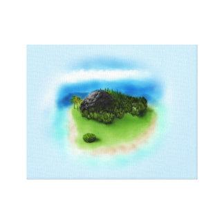 Envoltório tropical das canvas da ilha impressão em tela