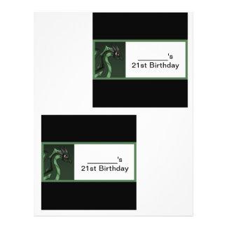 Envoltórios de doces do dragão verde modelos de panfleto