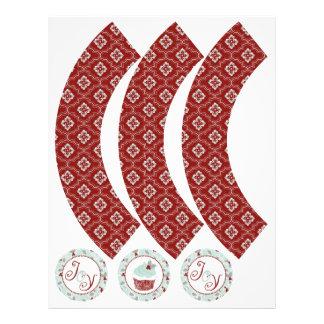 Envoltórios encantadores 4 do cupcake dos ornament panfletos personalizado